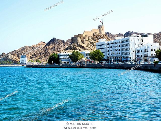 Oman, Muscat, Muttrah Fort and corniche