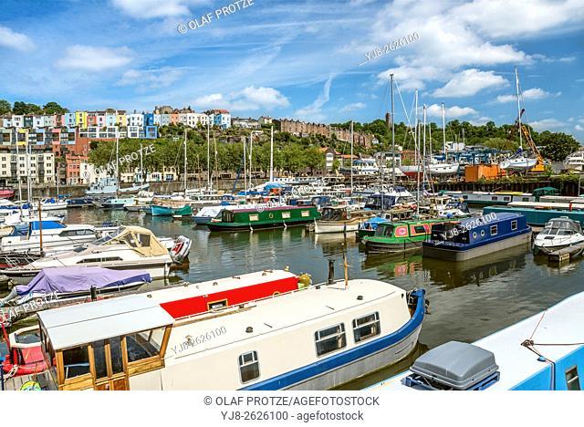 Bristol Marina at the Floating Harbor, Somerset, England, UK