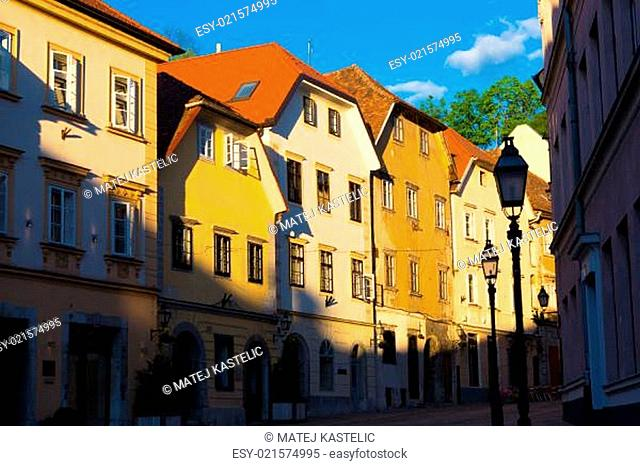 Old houses in Ljubljana, Slovenia, Europe