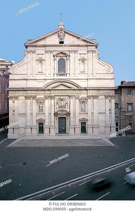 Gesù Church, Rome, by Della Porta Giacomo, Barozzi Jacopo known as Vignola, 1568 - 1571, 16th Century, . Italy; Lazio; Rome; Gesù church; I: nome intero Chiesa...