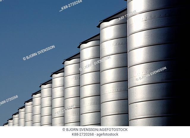 Grain silos. Country Victoria, Australia