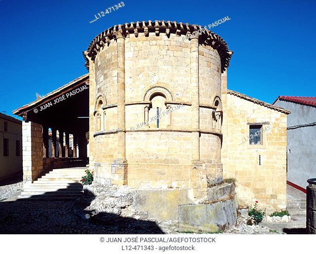 Romanesque church (12th century), Castillejo de Robledo. Soria province, Castilla-Léon, Spain