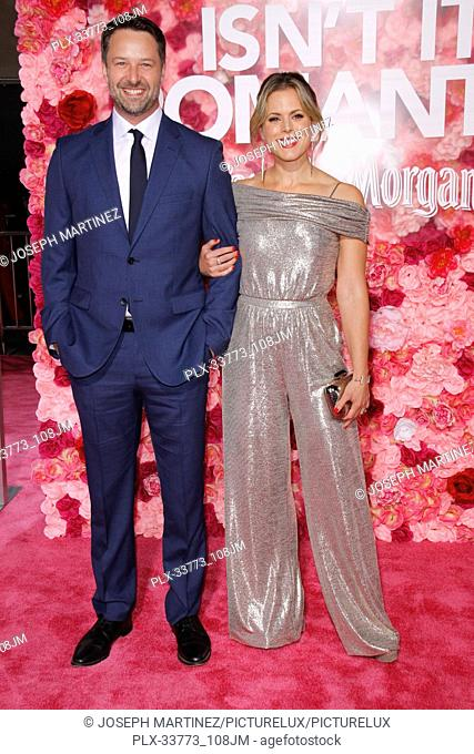 """Joe Towne, Erin Cardillo at Warner Bros. Pictures' """"""""Isn't It Romantic"""""""" Premiere held at The Ace Hotel in Los Angeles, CA, February 11, 2019"""
