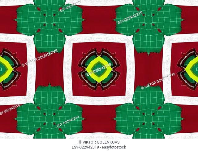Ethnic pattern. Abstract kaleidoscope fabric design
