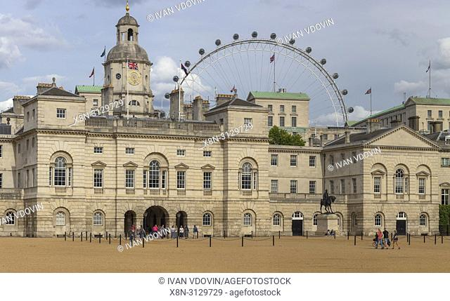 Horse Guards Parade building, Household Cavalry Museum, Whitehall, London, England, UK