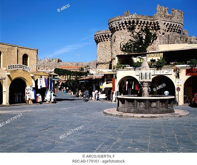 Hippokrates Square, Rhodes city, Rhodes, Greece