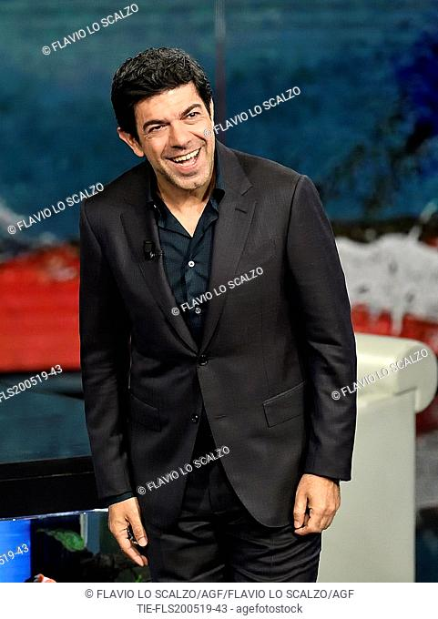 Italian actor Pierfrancesco Favino during the tv show Che tempo che fa, Milan, ITALY-19--05-2019