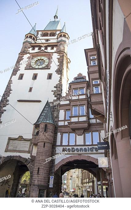 Cityscape in Freiburg, Germany