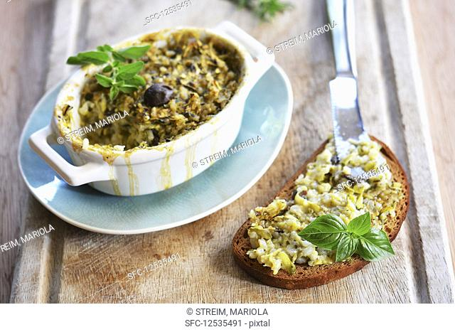 Baked zucchini and rice spread (vegan and gluten-free)