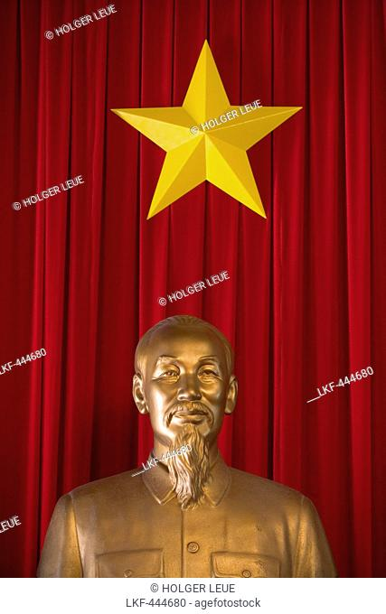 Ho Chi Minh statue inside the Reunification Palace (formerly known as Independence Palace), Ho Chi Minh City, Ho Chi Minh, Vietnam, Asia