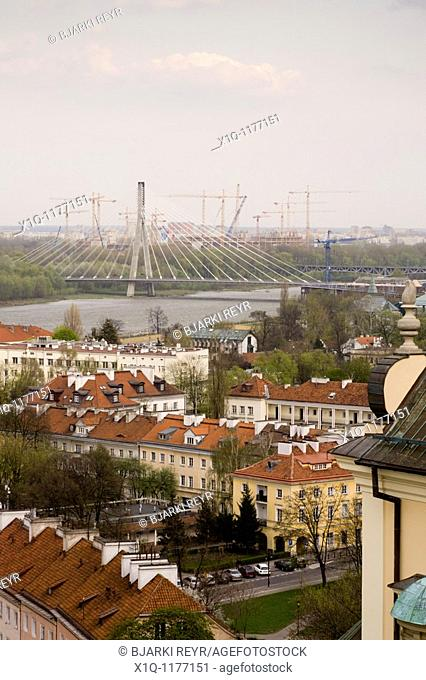 The Holy Cross Bridge Most Switokrzyski is a bridge over the Vistula river and the first cable-stayed bridge in Warsaw, Poland