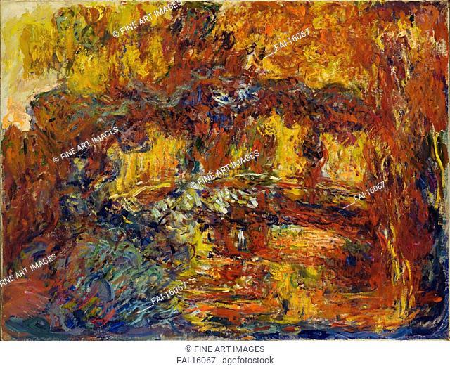 The Japanese Footbridge. Monet, Claude (1840-1926). Oil on canvas. Impressionism. c. 1920. © Museum of Modern Art, New York. 89,5x116,3. Painting