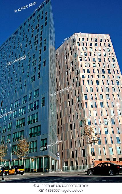 Novotel hotel and office building, 22@ district, Barcelona, Catalonia, Spain