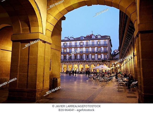 Plaza de la Constitucion, old town, San Sebastian, Donostia, Gipuzkoa, Euskadi, Spain