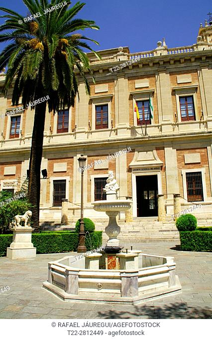 Seville (Spain). Exterior of the Archivo General de Indias in the city of Seville