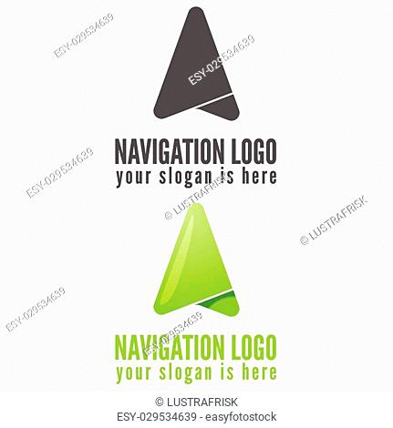 Logo or logotype elements for navigation, map, web, business compass and other design