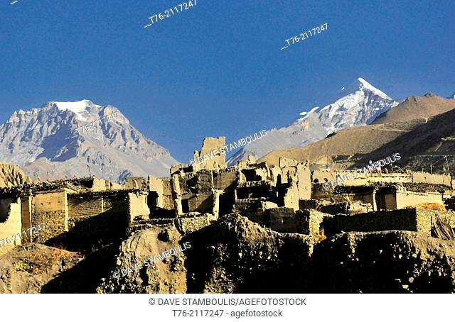 medieval Kagbeni village in the Kingdom of Mustang in the Annapurna region of Nepal
