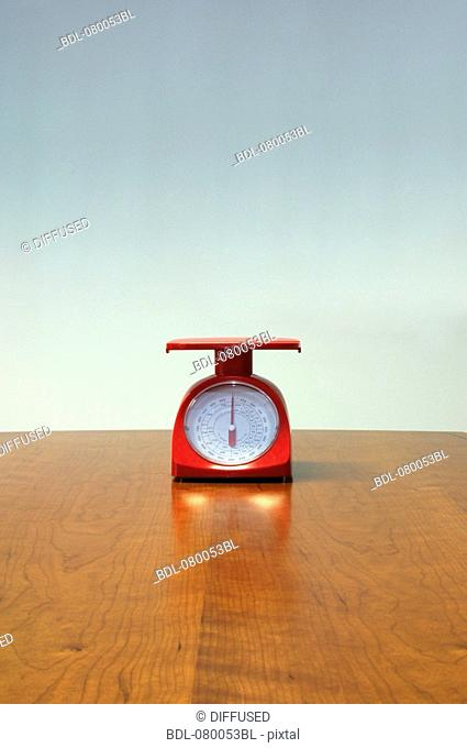 still life of red letter scales