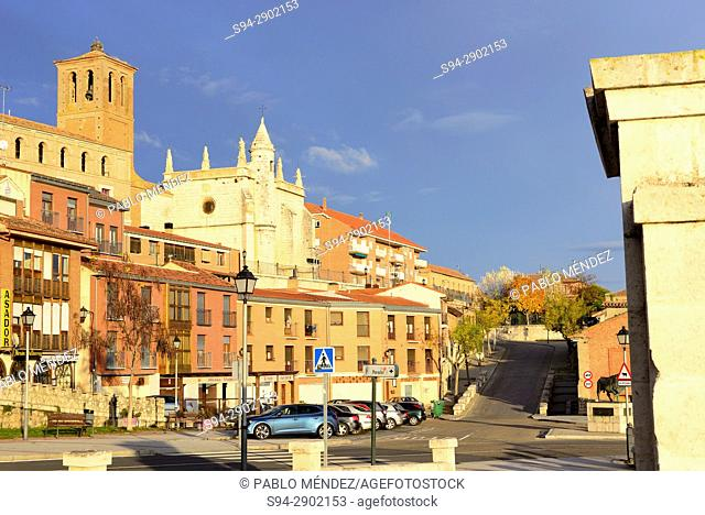 Museum and church of San Antolin and facades, Tordesillas, Valladolid, Spain