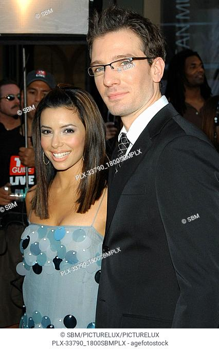 Eva Longoria and JC Chasez at the 32nd Annual American Music Awards - Arrivals held at the Shrine Auditorium in Los Angeles, CA