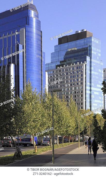 Chile, Santiago, Barrio El Golf, skyscrapers, skyline,
