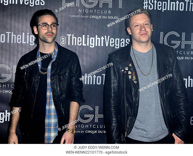 Macklemore & Ryan Lewis at Light Nightclub Inside Mandalay Bay Resort and Casino Featuring: Macklemore, Ryan Lewis Where: Las Vegas, Nevada