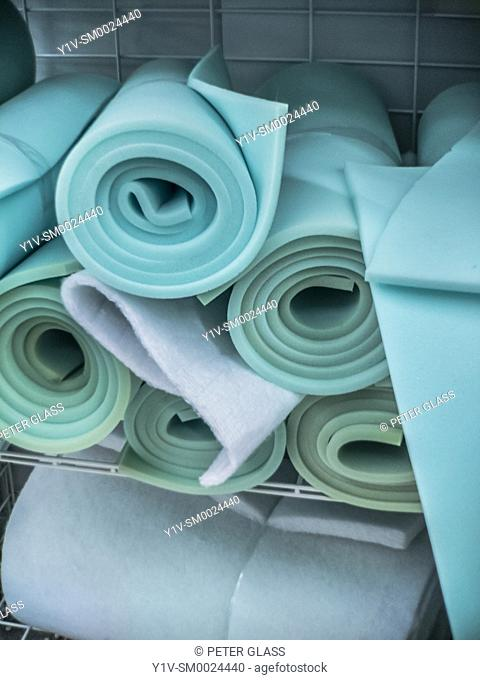 Rolls of foam rubber