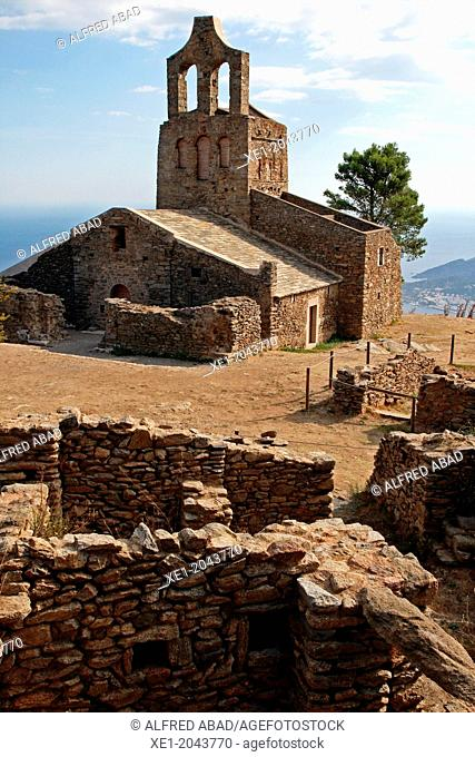 Church of Santa Elena, Poble de Santa Creu, Alt Emporda, Catalonia, Spain