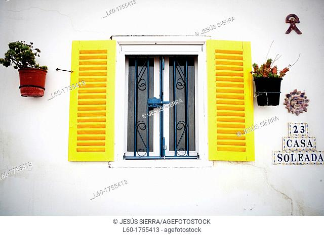 Window in Mojacar, Almería, Andalucia, Spain