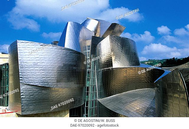 The Guggenheim museum in Bilbao, 1997, by architect Frank Gehry (1929), Basque country. Spain, 20th century