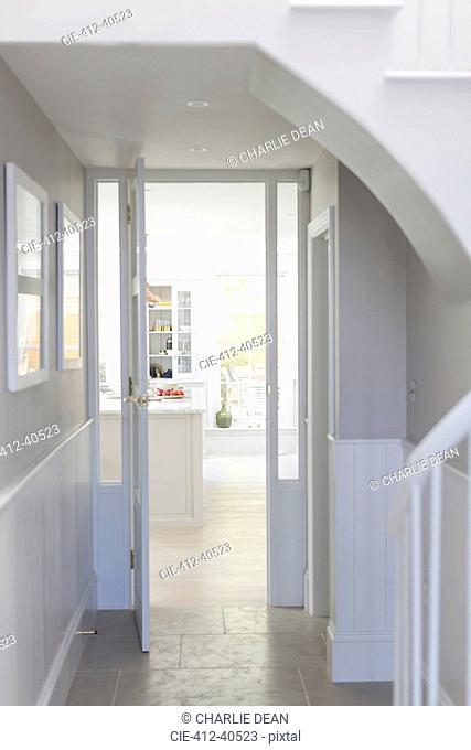 Luxury home showcase interior foyer and doorway
