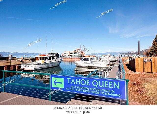 Sightseeing cruise around Emerald Bay on Lake Tahoe on Tahoe Queen