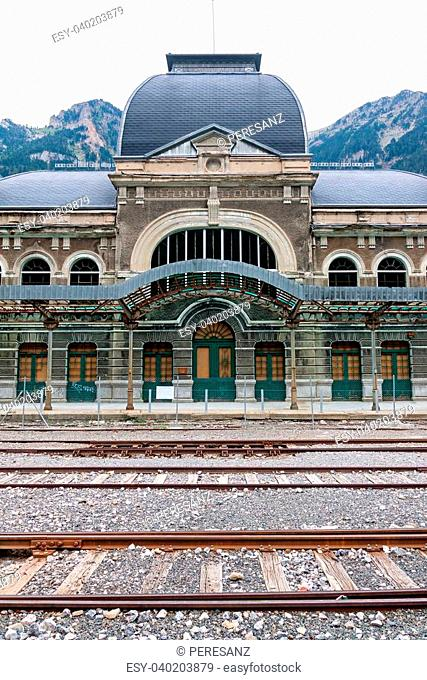 Abandoned railway station of Canfranc, Huesca, Spain
