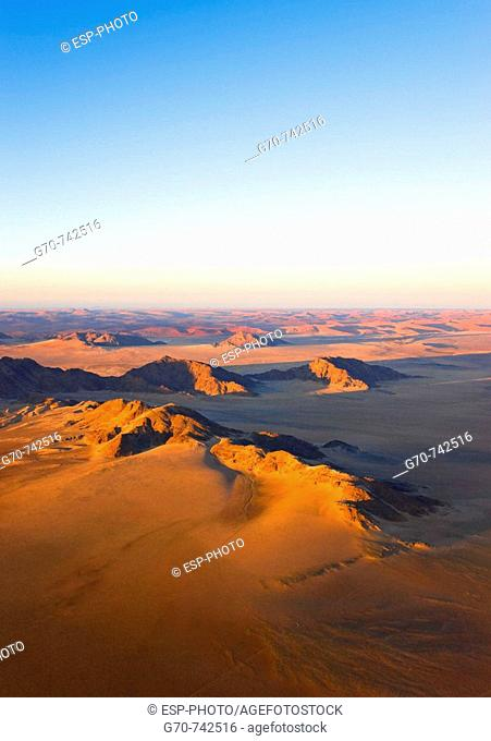 Aerial view of Naukluft Park, Namibia