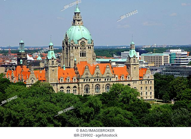 New town hall of Hannover, Lower Saxony, Germany