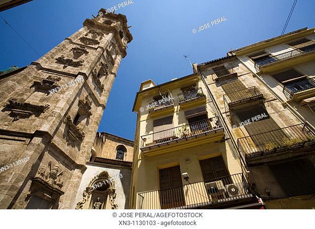 Santa Catalina tower (17th century), Valencia. Comunidad Valenciana, Spain