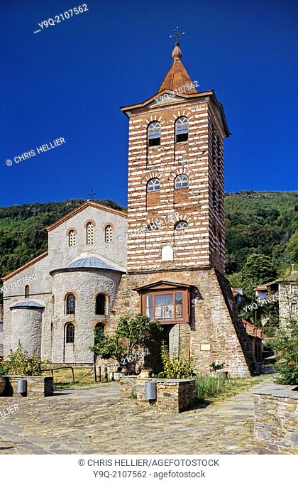 The Main Church or Protaton Church of the Protos Karyes Mount Athos Greece