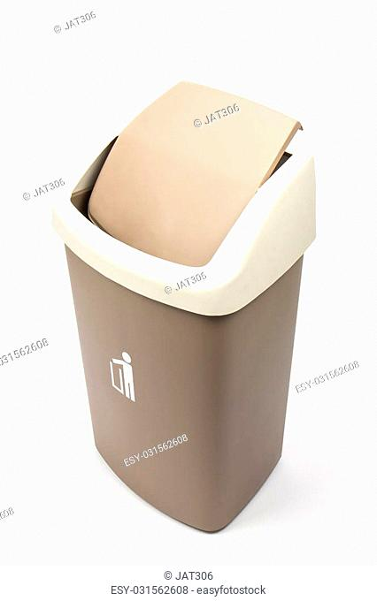 Recycle Bins Isolated Over White Background
