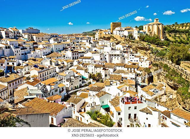 Setenil de las Bodegas, White Towns, Pueblos Blancos, Cadiz province, Andalusia, Spain, Europe