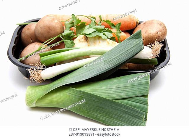 Leek with celery