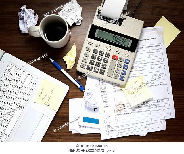 Calculator on desk