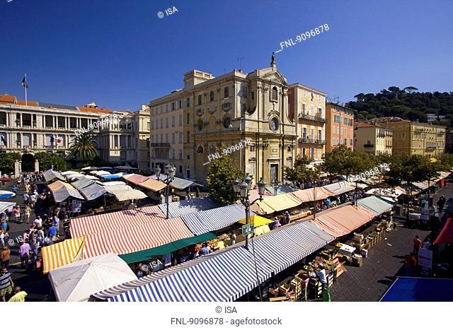 Market stalls, Cours de Saleya, Nice, France