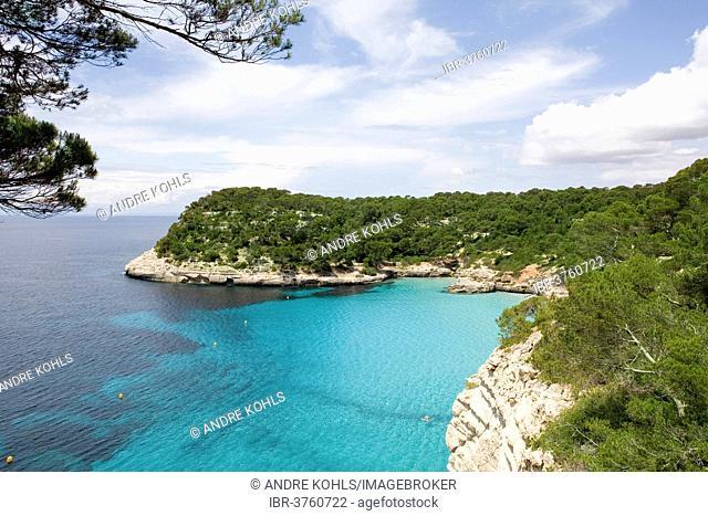 Cove, Cala Mitjana, Minorca, Balearic Islands, Spain