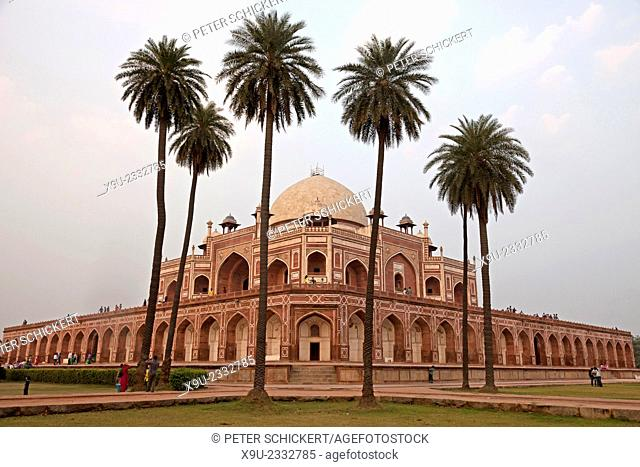 Humayun's Tomb, UNESCO world heritage in Delhi, India, Asia