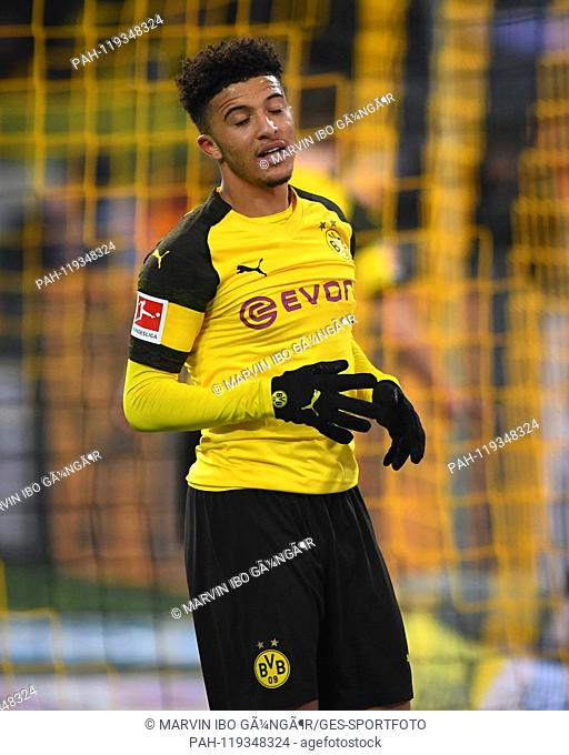 Jadon Sancho (BVB) was disappointed. GES / Soccer / 1. Bundesliga: Borussia Dortmund - FSV FSV FSV Mainz 05, 13.04.2019 Football / Soccer: 1st League: Borussia...