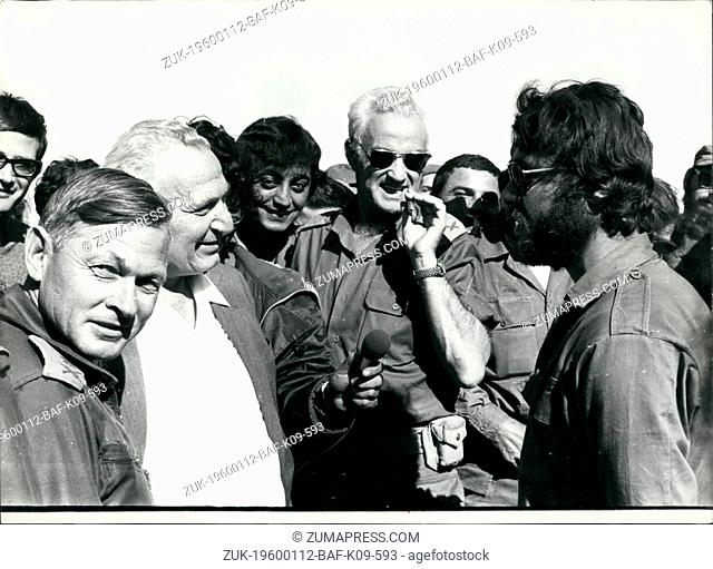 1973 - for left General Avraham Adan Brenn Pres. Katzir - Uri Ben-Ari with at the front and yom Kippur War (Credit Image: © Keystone Pictures USA/ZUMAPRESS