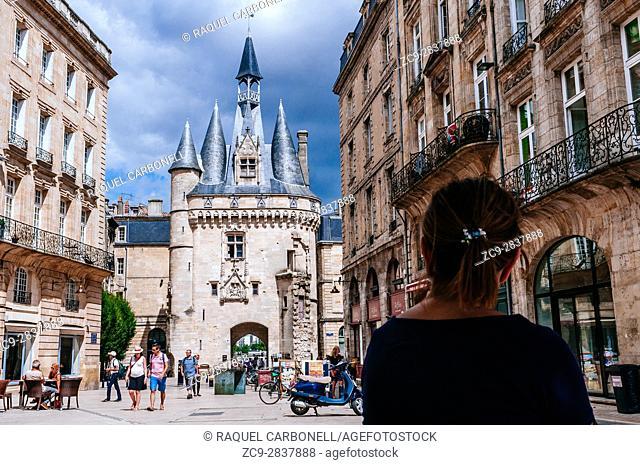 Porte Cailhau historic entrance gate, Bordeaux, France