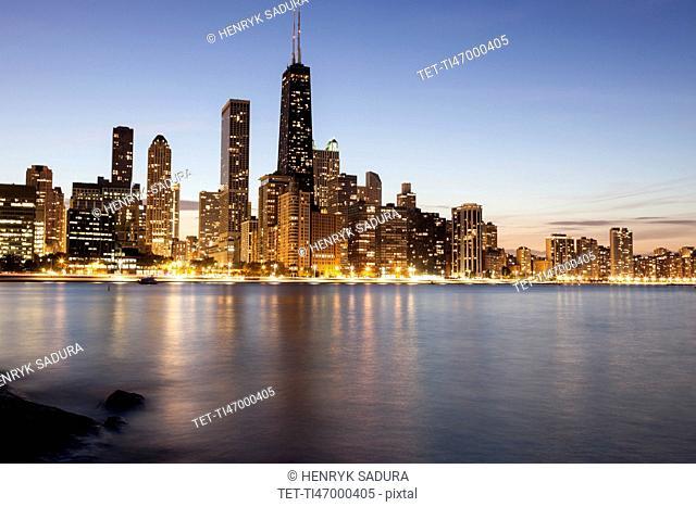 Gold Coast buildings at dusk