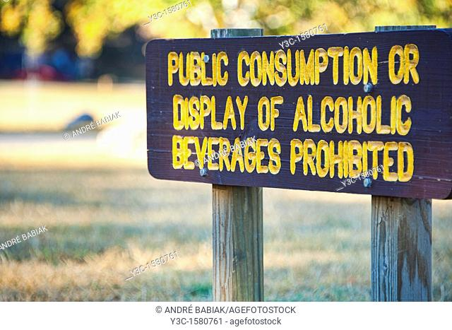 Sign Alcohol Prohibited