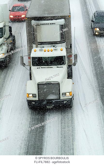 Highway Traffic in Winter